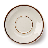 Brown Speckle Narrow Rim 6 inch China Saucer - 36 / Case