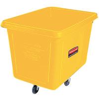Rubbermaid FG461900YEL Yellow 20 Cu. Ft. Bulk Cube Truck (600 lb.)