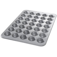 Chicago Metallic 45575 35 Cup Glazed Customizable Cupcake / Muffin Pan - 17 7/8 inch x 25 7/8 inch