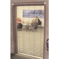 Curtron M108-S-7396 73 inch x 96 inch Standard Grade Step-In Refrigerator / Freezer Strip Door