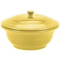 Homer Laughlin 495320 Fiesta Sunflower 2.18 Qt. Covered Casserole Dish - 2 Sets / Case