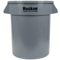 Continental 2000GY Huskee 20 Gallon Gray Round Trash Can