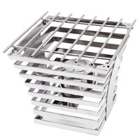 Eastern Tabletop 1715 Escalate Series 10 inch x 10 inch x 9 inch Stainless Steel Eight Rung Riser with Cooking Grate and Sterno
