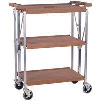 Carlisle SBC152125 Fold 'N Go 15 inch x 21 inch Tan Folding Utility Cart