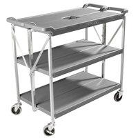 Carlisle SBC203123 Fold 'N Go 20 inch x 31 inch Gray Folding Utility Cart