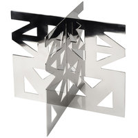 Eastern Tabletop 1732X LeXus X Series 10 inch Stainless Steel X Shaped Platform Riser with Two Integrated Levels