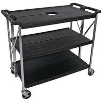 carlisle sbc203103 fold u0027n go 20 inch x 31 inch black folding utility cart