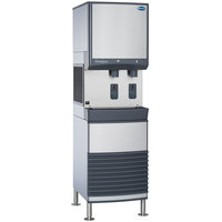 Follett 50FB425A-S 50 Series Air Cooled Freestanding Ice and Water Dispenser - 50 lb. Storage