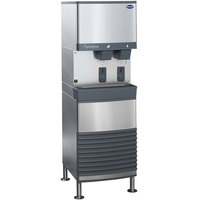 Follett 25FB425W-S 25 Series Water Cooled Freestanding Ice and Water Dispenser - 25 lb. Storage