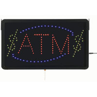 Aarco ATM10L ATM LED Sign with Border