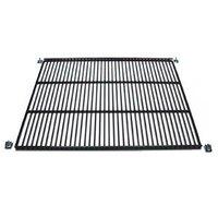 True 975504 Black Coated Center Wire Shelf - 31 3/4 inch x 21 1/4 inch