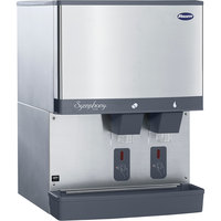 Follett 110CM-NI-S Symphony Plus 110 lb. Manual Fill Countertop Ice and Water Dispenser with SensorSAFE Dispensing