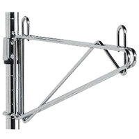 Metro 1WS24C Super Erecta Chrome Post-Type Wall Mount 24 inch Shelf Support