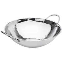 Eastern Tabletop 5702 5 Qt. Stainless Steel Hammered Wok