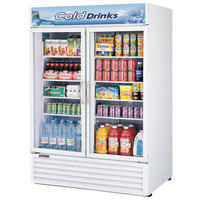 Turbo Air TGM-50RS 56 inch White Two Glass Door Refrigerated Merchandiser