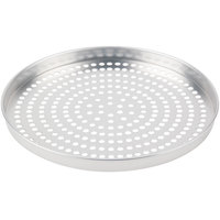 American Metalcraft SPA4013 13 inch x 1 inch Super Perforated Standard Weight Aluminum Straight Sided Pizza Pan