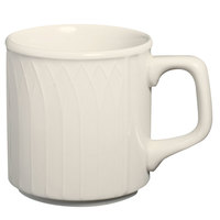 Homer Laughlin 3327000 Gothic 9 oz. Ivory (American White) Stackable China Mug - 36/Case
