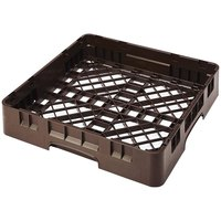Cambro BR258167 Brown Camrack Customizable Full Size Open Base Rack