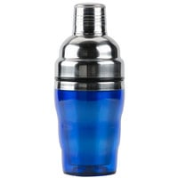 American Metalcraft BSJ10 10 oz. Blue 3-Piece Cocktail Shaker Set