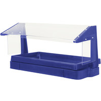 Cambro BBR480186 48 inch x 24 inch x 25 inch Navy Blue Buffet / Salad Bar with Free Standing Sneeze Guard