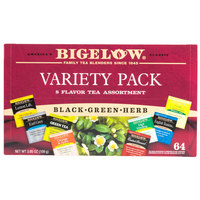 Bigelow Tea Variety Tray Pack - 64/Box