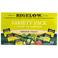 Bigelow Green Tea Variety Tray Pack - 64/Box