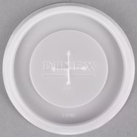 Dinex DX1198ST8714 Translucent Disposable Lid for Dinex DX5506 9.5 oz. SAN Tumbler, Carlisle 5506 Stackable 9.5 oz. Tumbler and Carlisle 5512 Pebble Optic 12 oz. Tumbler - 1000/Case