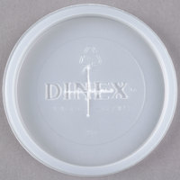 Dinex DX1193ST8714 Classic Translucent Disposable Lid with Straw Slot for Tumblers - 1000/Case