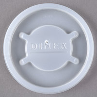 Dinex DX20019000 Translucent Disposable Lid for Cambro Newport 5 oz. Tumbler, Cambro LT6 6 oz. Laguna Tumbler, and Cambro NT5 6.4 oz. Newport Tumbler - 1500/Case