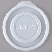 Dinex DXTT45 Translucent Disposable Lid for Royal Legacy 8 oz. Bowl, Cambro LT22 Laguna 22 oz. Tumbler, and Carlisle 5224 Stackable 24 oz. SAN Tumbler - 1000/Case