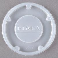 Dinex DX24019000 Translucent Disposable Lid for Carlisle 5505 Pebble Optic 5 oz. Tumbler, Cambro HT5CW Camwear Huntington 5 oz. Squat Tumbler, and GET 8805-1-CL Spektrum 5 oz. SAN Tumbler - 1500/Case