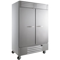 Beverage-Air FB49-1S 52 inch Vista Series Two Section Solid Door Reach in Freezer - 49 cu. ft.