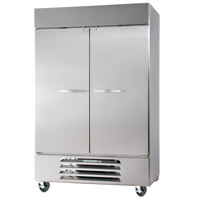 Beverage Air FB49-1S 52 inch Vista Series Two Section Solid Door Reach in Freezer - 49 cu. ft.