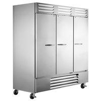 Beverage-Air FB72-1S 75 inch Vista Series Three Section Solid Door Reach in Freezer - 72 cu. ft.