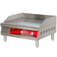 Avantco EG24N 24 inch Electric Countertop Griddle - 208/240V 2.7/3.6 kW