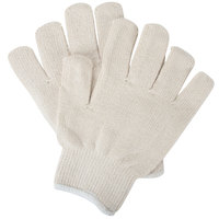 White Heat-Resistant Gloves for Wax Bases and Plates - 12/Pack