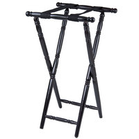 Lancaster Table & Seating Black 32 inch Folding Turned Leg Tray Stand Chic Wood