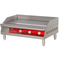 Avantco EG30N 30 inch Electric Countertop Griddle - 208/240V, 3.4/4.5 kW