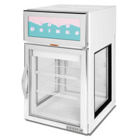 Beverage-Air CRD5GE-1W-GS White Pass-Through Countertop Display Refrigerator with 1 Solid Door and 1 Swing Door - 5.5 cu. ft.