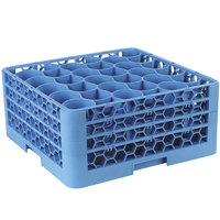 Carlisle RW30-214 OptiClean NeWave 30 Compartment Glass Rack with 3 Extenders