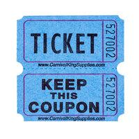 Carnival King Blue 2-Part Raffle Tickets - 2000 / Roll