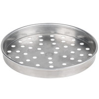 American Metalcraft PHA5107 5100 Series 7 inch Perforated Heavy Weight Aluminum Straight Sided Self-Stacking Pizza Pan