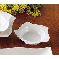 CAC STA-120 Fashionware 40 oz. Bone White Five Star Porcelain Pasta Bowl - 12 / Case