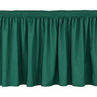 National Public Seating SS8-96 Green Shirred Stage Skirt for 8 inch Stage - 7 inch x 96 inch