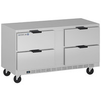 Beverage-Air UCRD60AHC-4 60 inch Compact Undercounter Refrigerator with 4 Drawers
