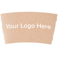 12-24 oz. Natural Kraft Customizable Coffee Cup Sleeve - 1800/Case