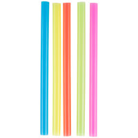 Choice 8 1/2 inch Colossal Neon Unwrapped Straw - 500/Box
