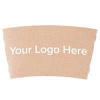 8 oz. Natural Kraft Customizable Coffee Cup Sleeve   - 1800/Case