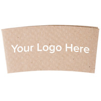 12-24 oz. Natural Kraft Customizable Embossed Coffee Cup Sleeve - 1800/Case