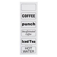 Cambro 13200 Large Labels for Beverage Dispensers